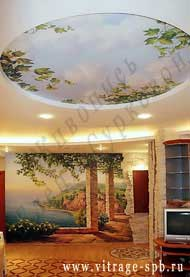 Monumental and decorative painting. Art painting walls.