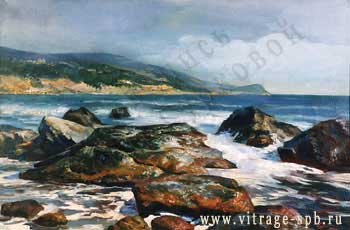 Picture. Seascape. Oil on canvas
